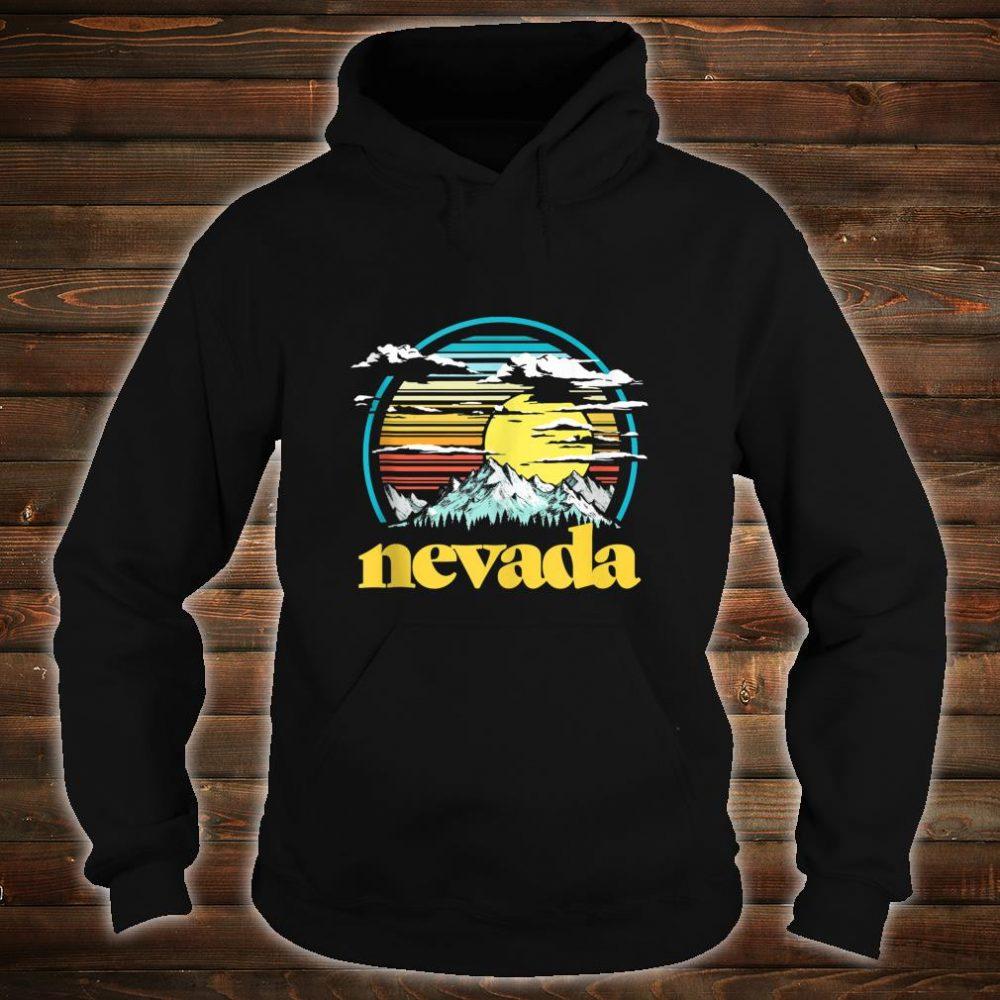 Retro Nevada Vintage 80s Style Mountains & Sun Shirt hoodie