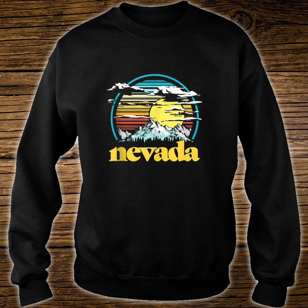 Retro Nevada Vintage 80s Style Mountains & Sun Shirt sweater