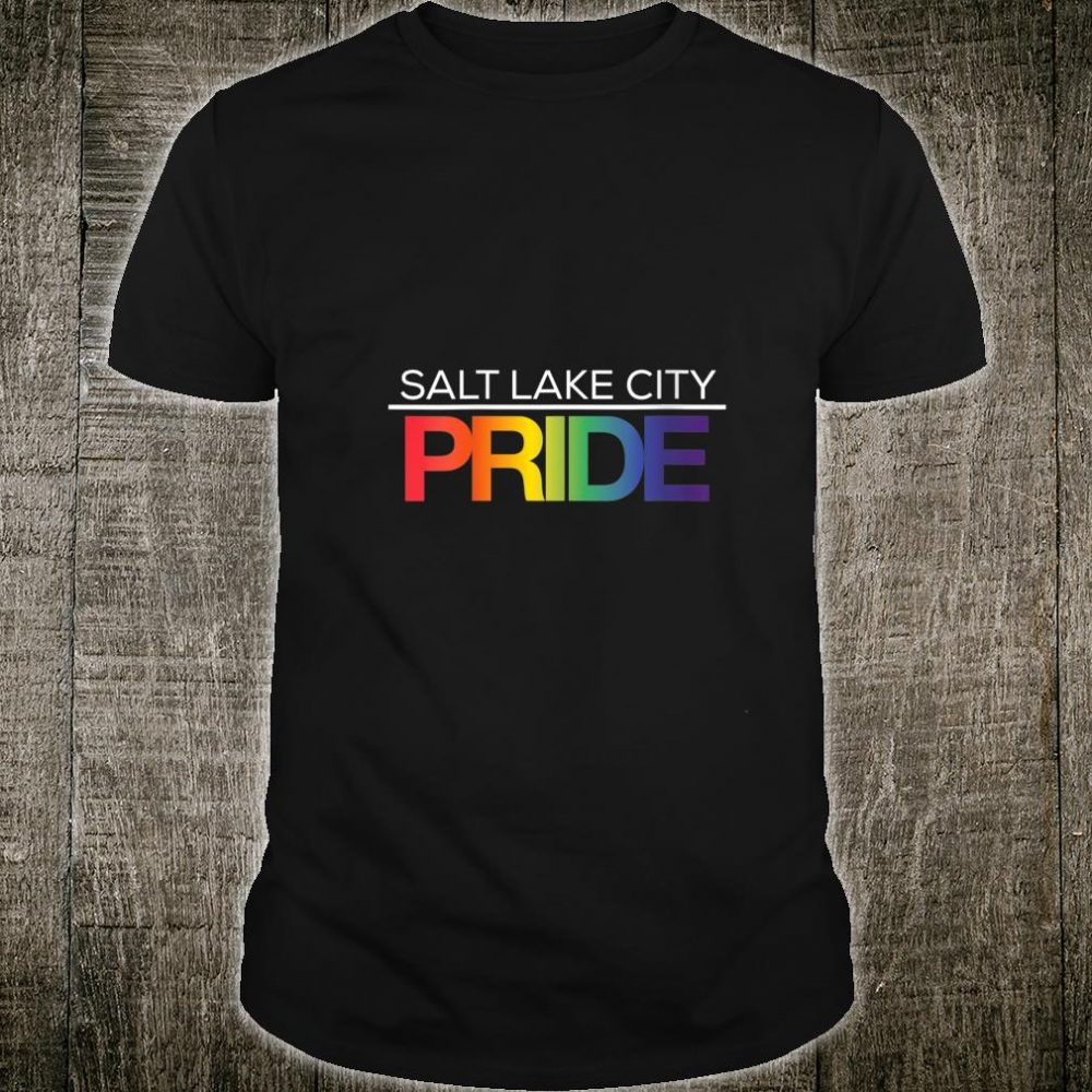 SALT LAKE CITY Pride LGBTQ Rainbow Shirt
