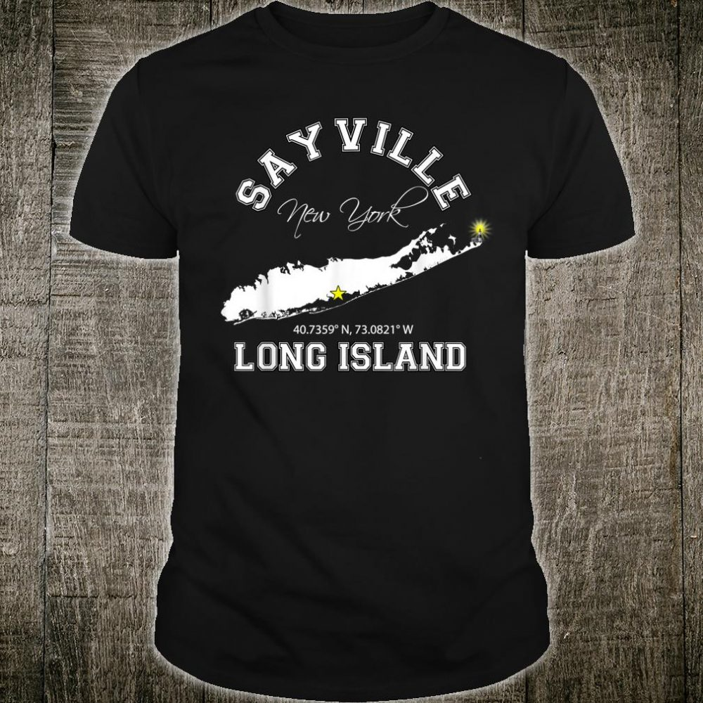 Sayville Long Island New York Varsity Letter Style Shirt