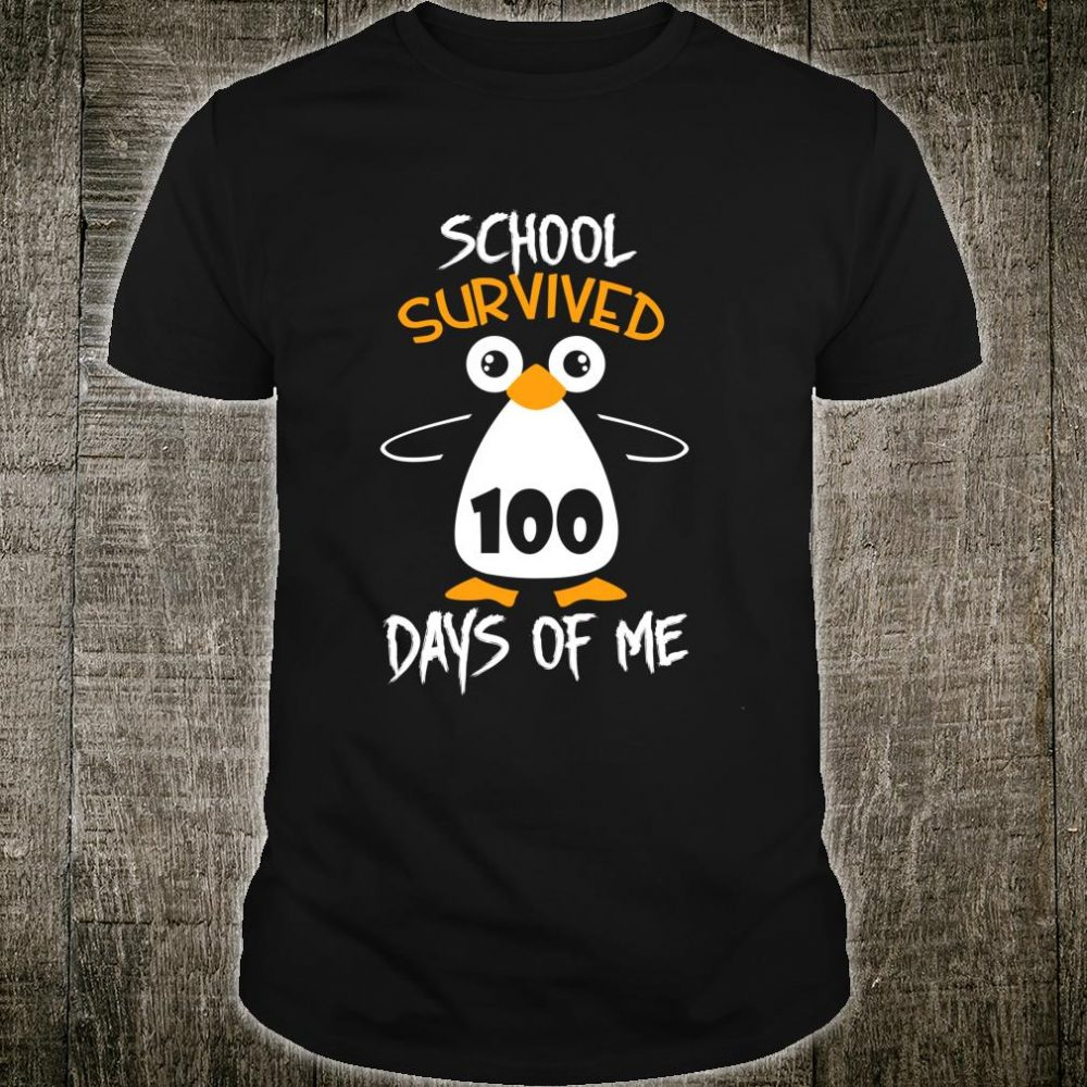 School survived 100 days of me cute Penguin students Shirt