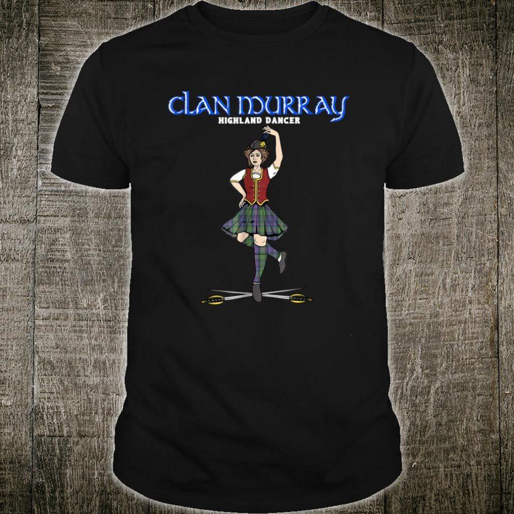 Scottish Girl Highland Dancer Clan Murray Tartan Kilt Shirt