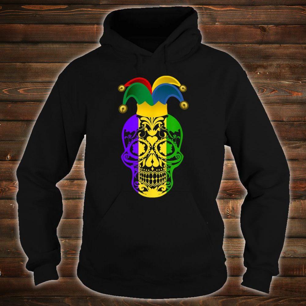 Skull Mardi Gras Jester Hat Happy Fat Tuesday Shirt hoodie