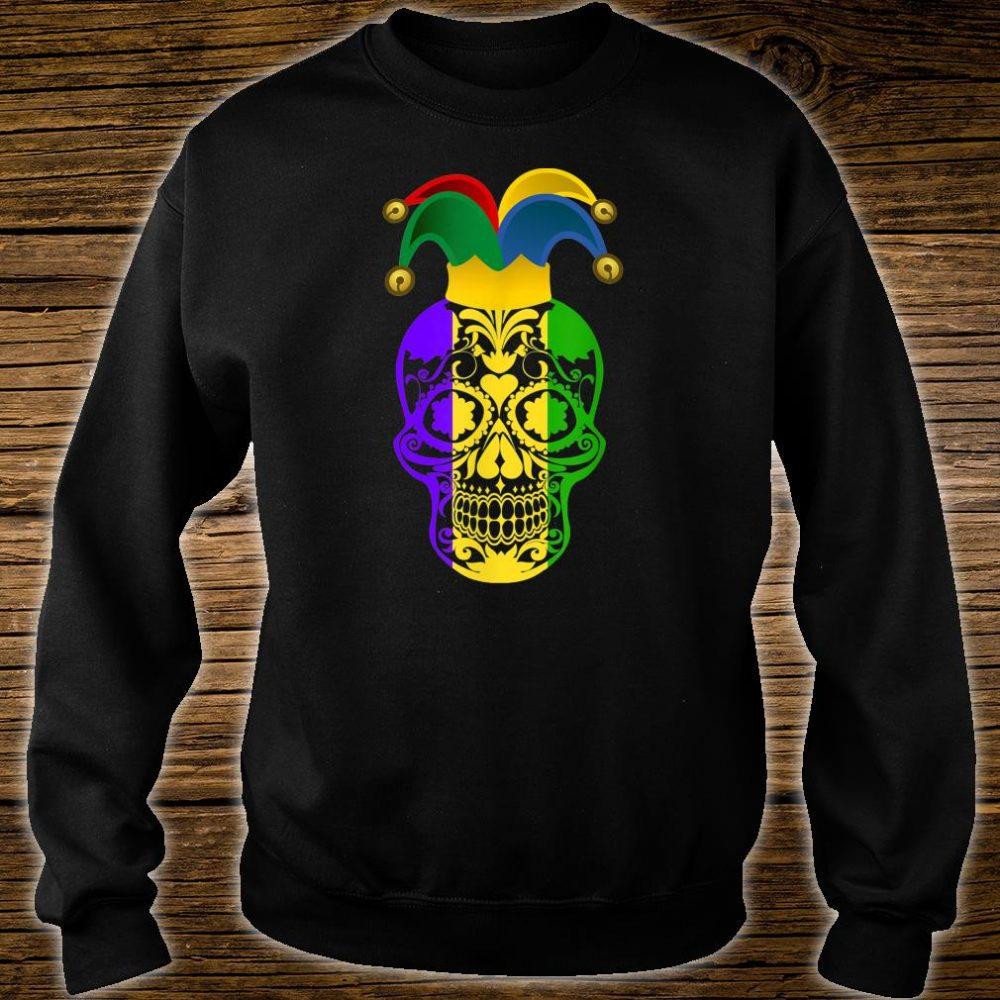 Skull Mardi Gras Jester Hat Happy Fat Tuesday Shirt sweater