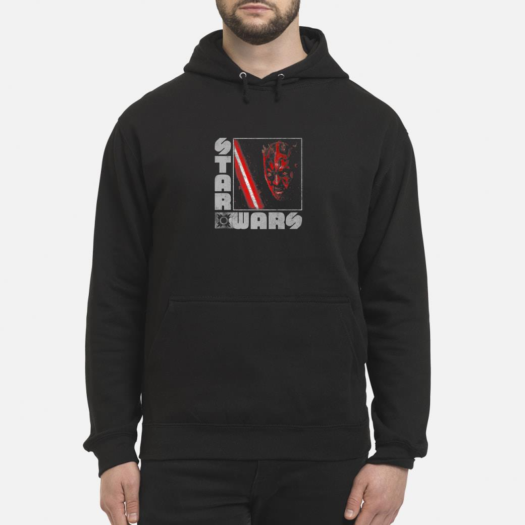 Star Wars Darth Maul Distressed Square Portrait Shirt hoodie