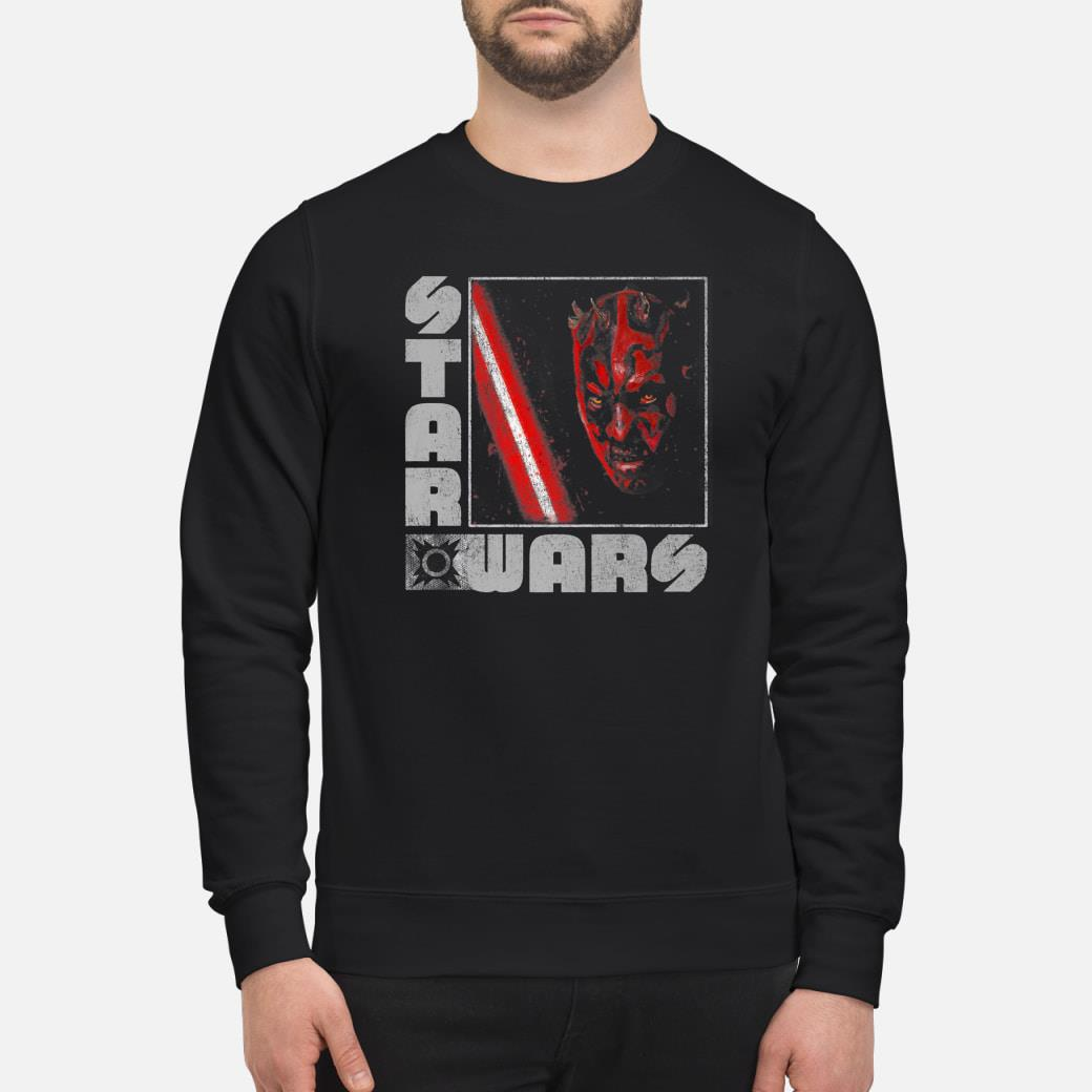 Star Wars Darth Maul Distressed Square Portrait Shirt sweater