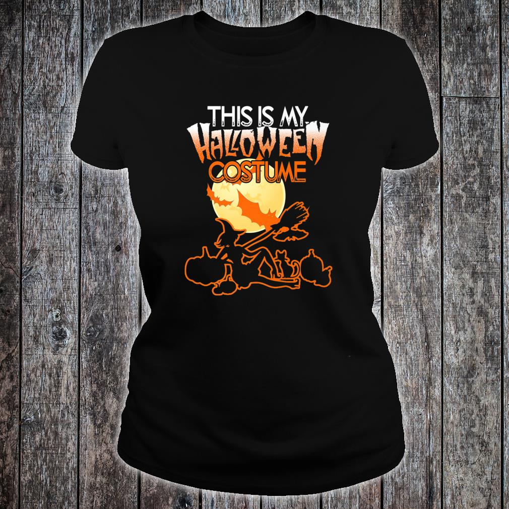 This is My Halloween Costume Shirt Moon Witch Halloween Shirt ladies tee
