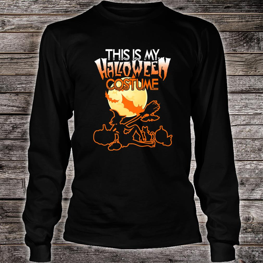 This is My Halloween Costume Shirt Moon Witch Halloween Shirt long sleeved