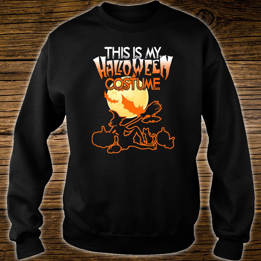 This is My Halloween Costume Shirt Moon Witch Halloween Shirt sweater