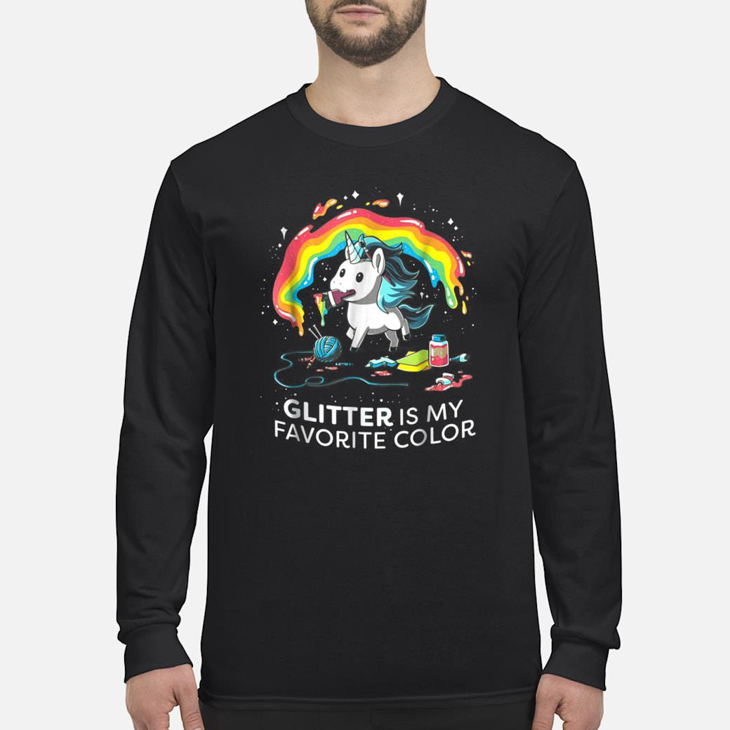 Unicorn GLITTER IS MY FAVORITE COLOR Shirt long sleeved