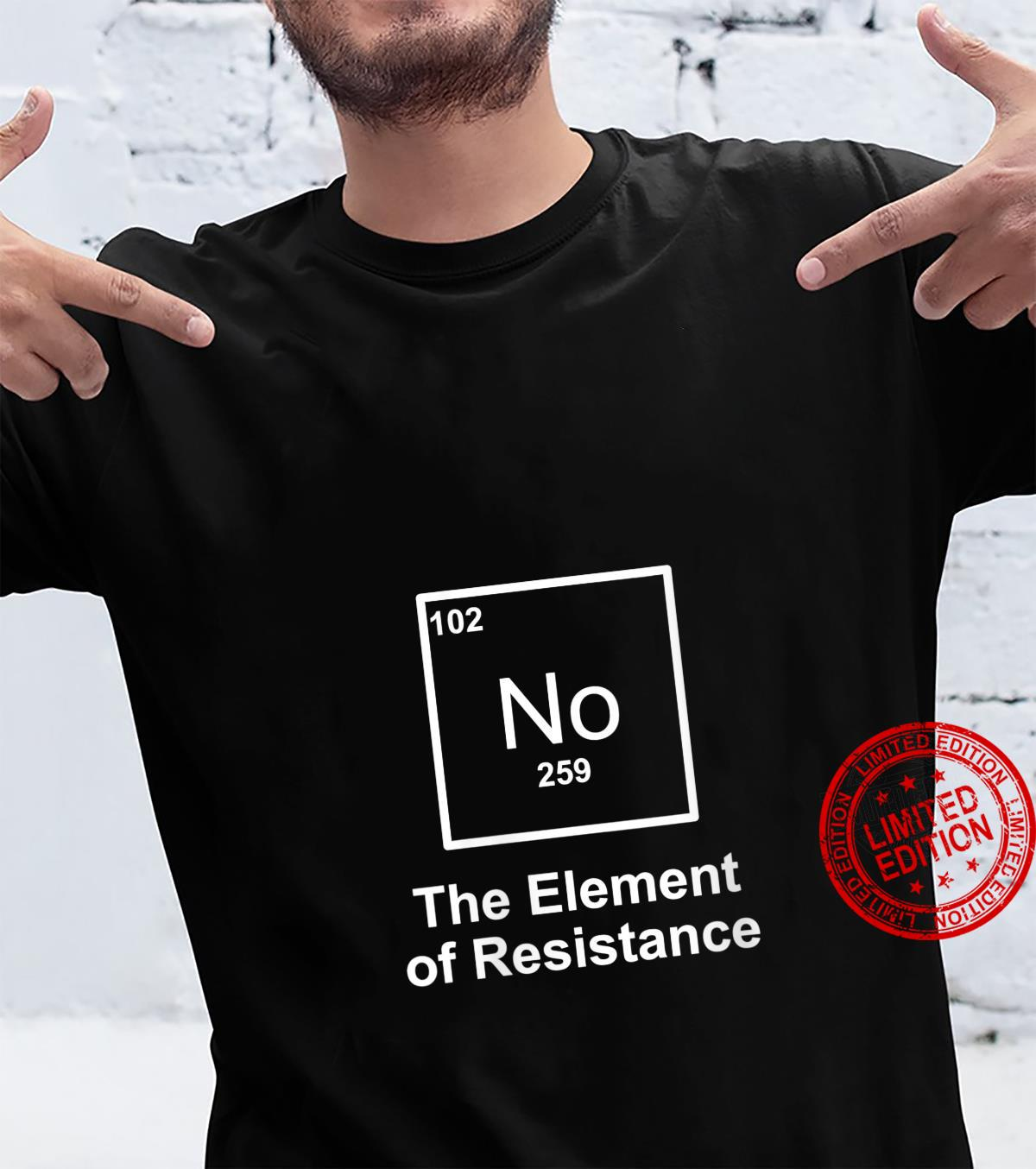 Womens No The Element of Resistance Protest Rebel Political Shirt